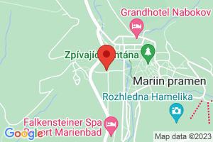 Mapa Hotel Wellness Olympia**** Marianske Lazne