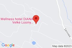 Mapa Wellness hotel Diana*** Velké Losiny