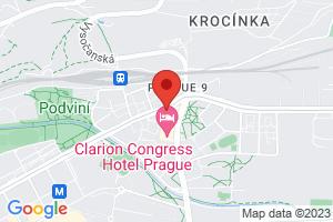 Mapa Hotel Clarion Congress**** Praha