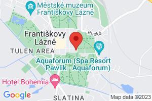 Mapa Dom uzdrowiskowy Belvedere*** Frantiskovy Lazne