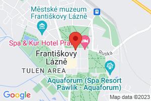 Mapa Kúpeľný Hotel Savoy**** Františkovy Lázně