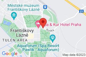 Mapa Hotel Spa & Kur Praha*** Frantiskovy Lazne