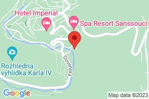 Mapa Parkhotel Richmond**** Karlovy Vary