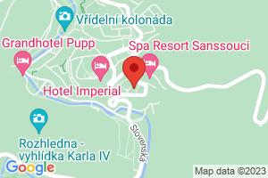 Mapa Lázeňský hotel Spa Resort Sanssouci**** Karlovy Vary