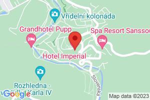 Mapa Hotel Imperial***** Karlovy Vary