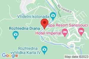 Mapa Spa hotel Dvořák**** Karlovy Vary
