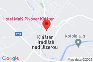 Mapa Hotel Malý Pivovar**** Klášter Hradiště nad Jizerou
