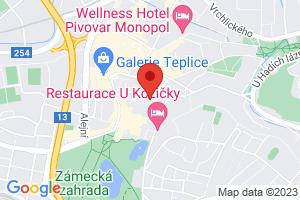 Mapa Liečebný dom Beethoven*** Teplice