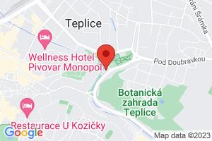Mapa Léčebný dům Kamenné lázně*** Teplice