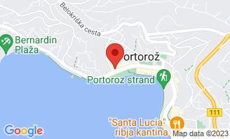 Mapa Hotel Riviera**** Portorož