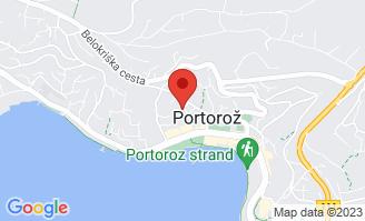 Mapa Hotel Mirna**** Portorož