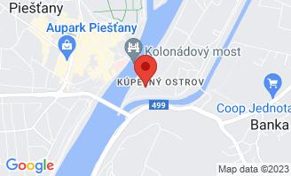 Mapa Thermia Palace Ensana Health Spa Hotel***** Piešťany
