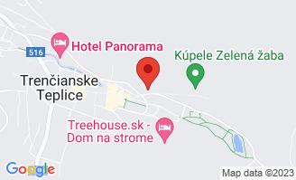Mapa Hotel Most Slávy*** Trenčianske Teplice