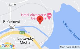 Mapa Hotel Galeria Thermal**** Bešeňová
