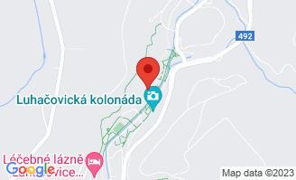 Mapa Hotel Dům Bedřicha Smetany**** Luhačovice