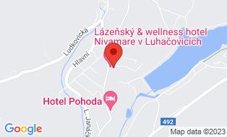 Mapa Wellness Hotel Pohoda**** Luhačovice