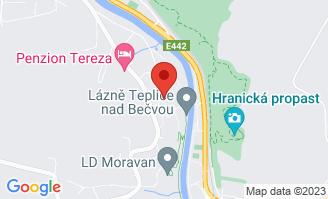 Mapa Liečebný dom Praha*** Teplice nad Bečvou