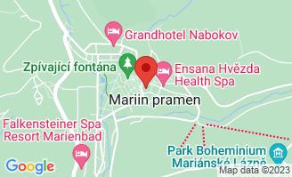 Mapa Centrální lázně Ensana Health Spa Hotel**** Mariánske Lázně