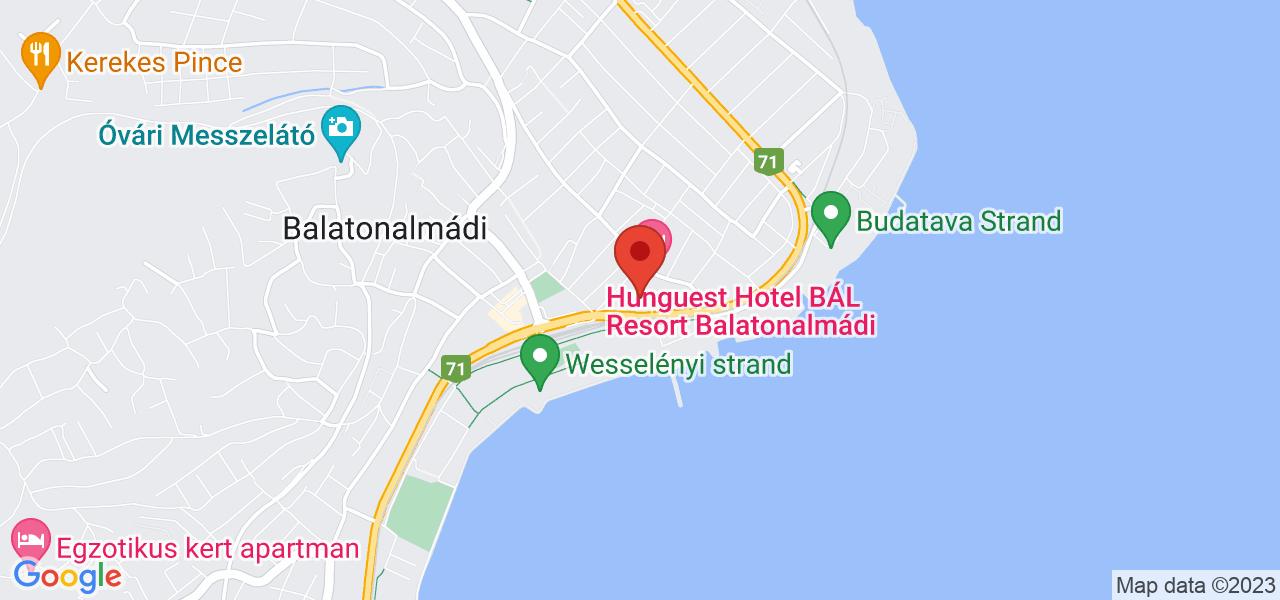 Mapa Hotel Hunguest Bál Resort**** Balatonalmádi