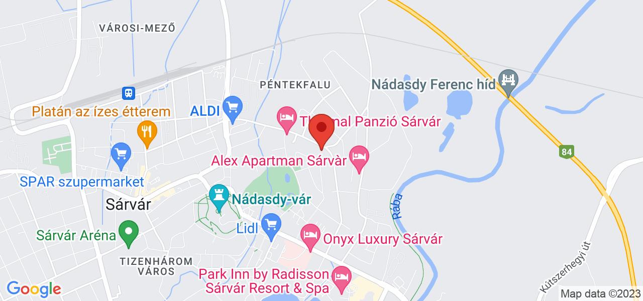 Mapa Hotel Park Inn**** Sárvár