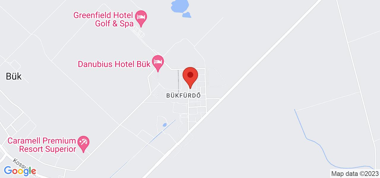 Mapa Apartman Hotel Bukfurdo*** Bükfürdő