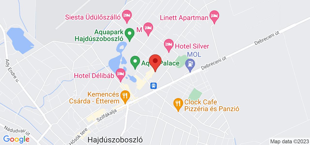 Mapa Hotel Aurum**** Hajdúszoboszló