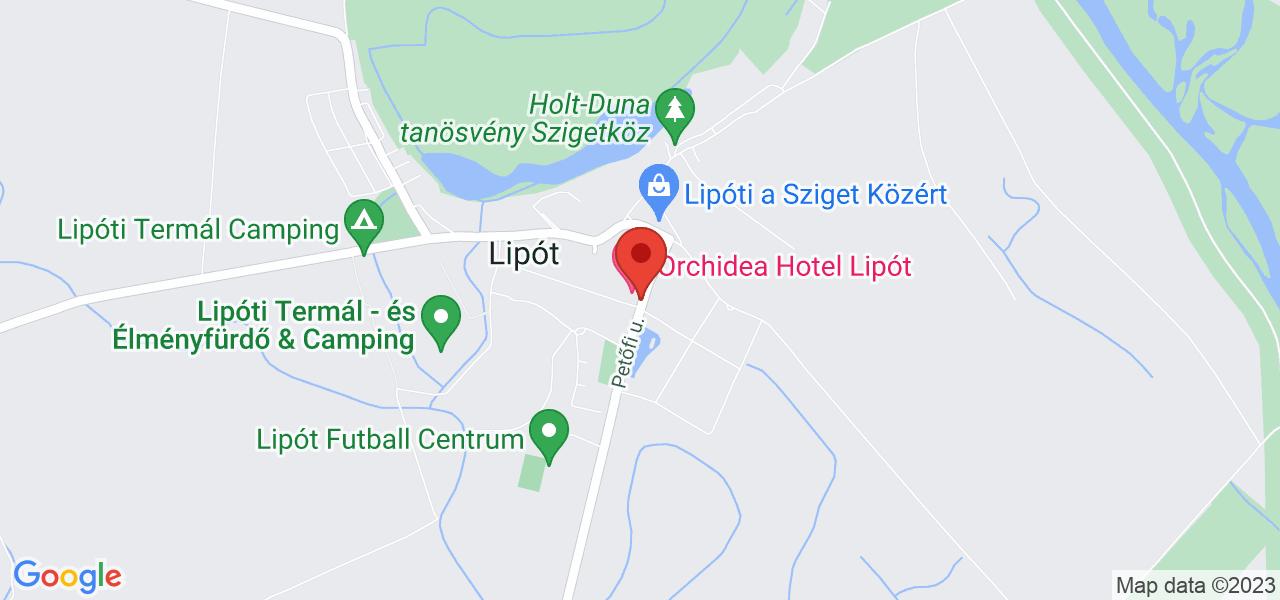 Mapa Hotel Orchidea**** Lipót