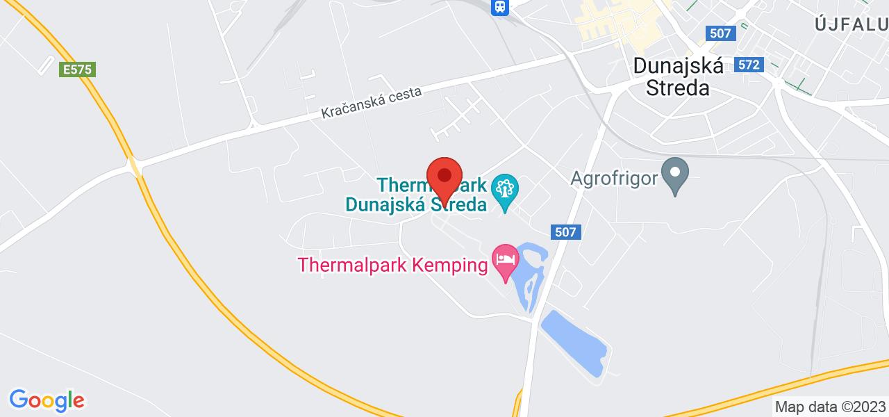 Mapa Apartmány Termál*** Dunajská Streda