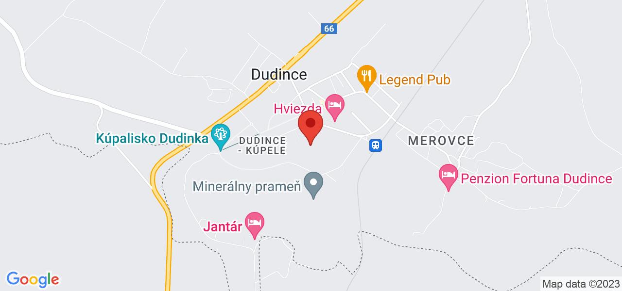 Mapa Léčebný dům Diamant*** Dudince