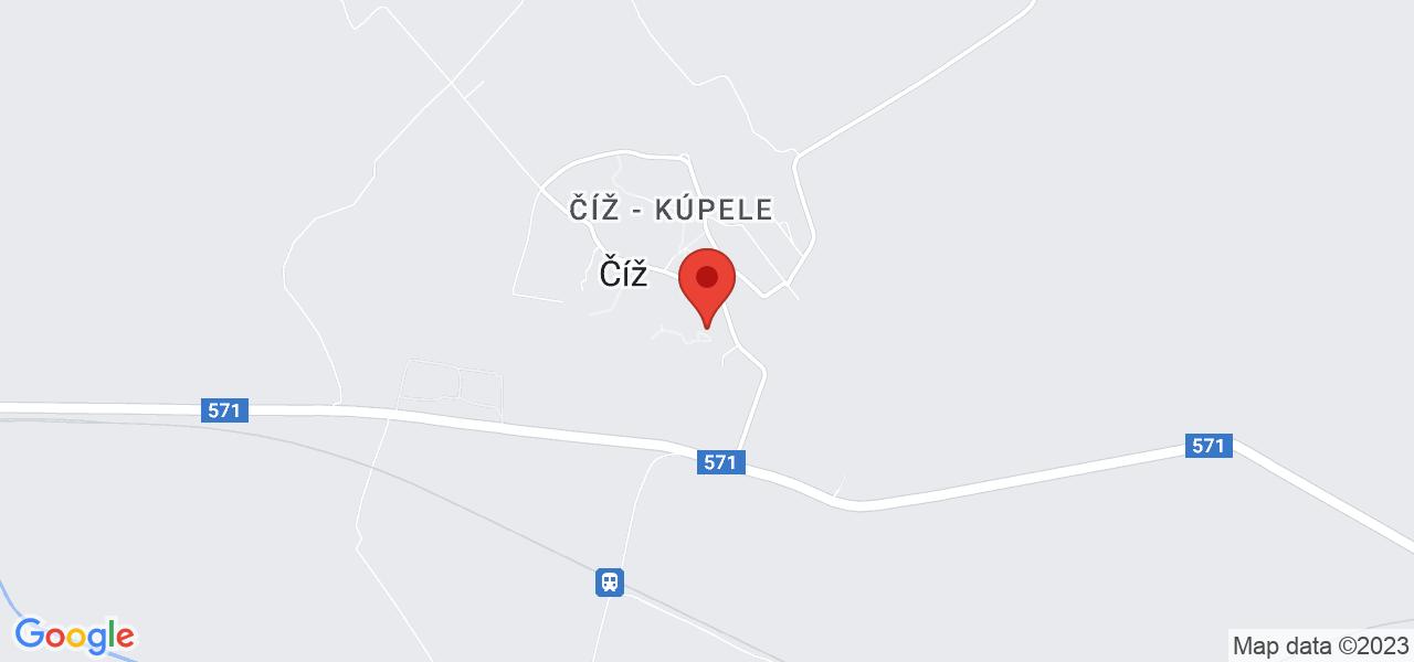 Mapa Liečebný dom Rimava*** Číž
