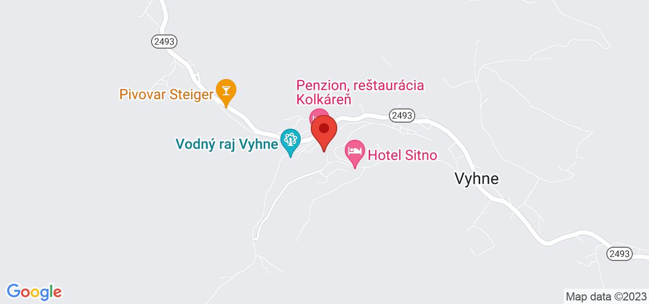 Mapa Hotel Termál*** Vyhne