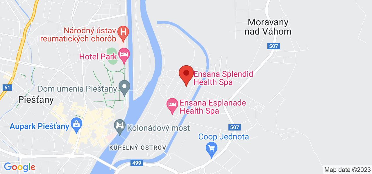 Mapa Splendid Ensana Health Spa Hotel*** Piešťany