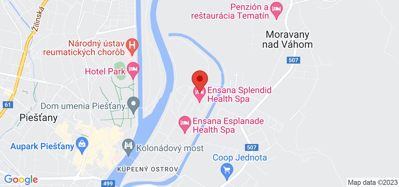 Mapa Grand Ensana Health Spa Hotel*** Piešťany