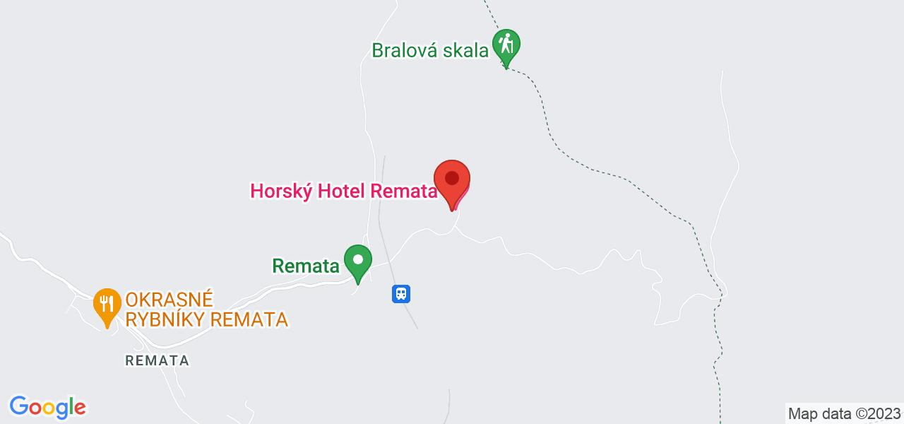 Mapa Horský Hotel Remata*** Handlová