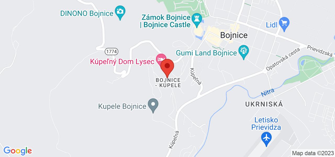 Mapa Liečebný dom Mier Bojnice