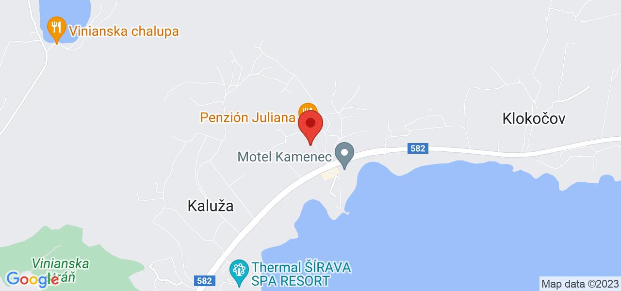 Mapa Apartmány Residence Šírava*** Zemplínska Šírava
