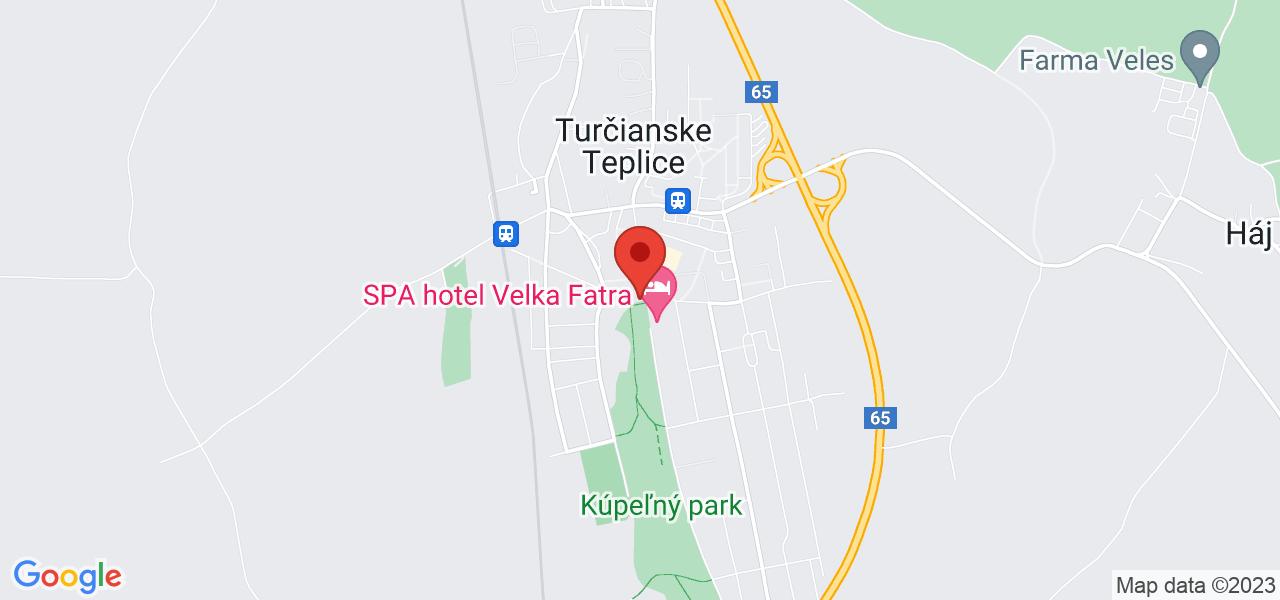 Mapa Kúpeľný Hotel Veľká Fatra*** Turčianske Teplice
