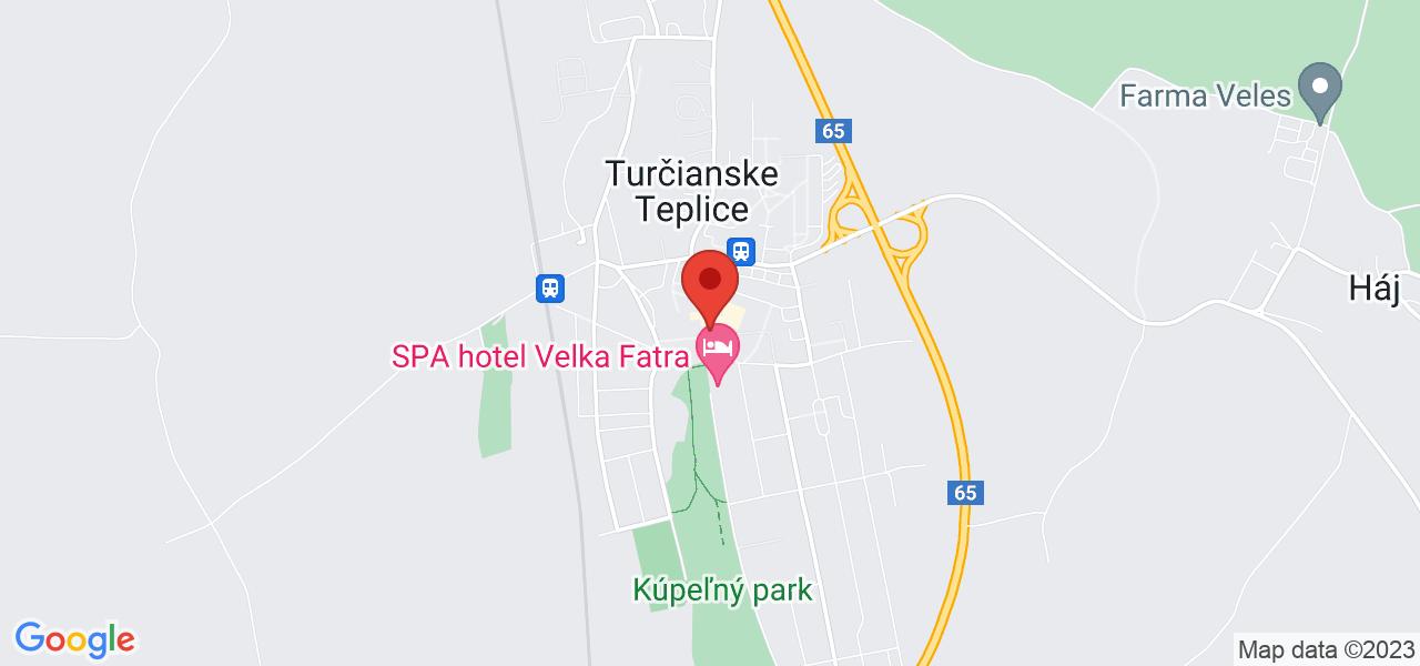 Mapa Dom uzdrowiskowy Aqua** Turcianskie Teplice