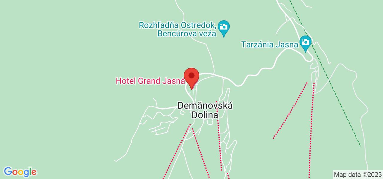 Mapa Hotel Grand**** Demänovská dolina/Jasná