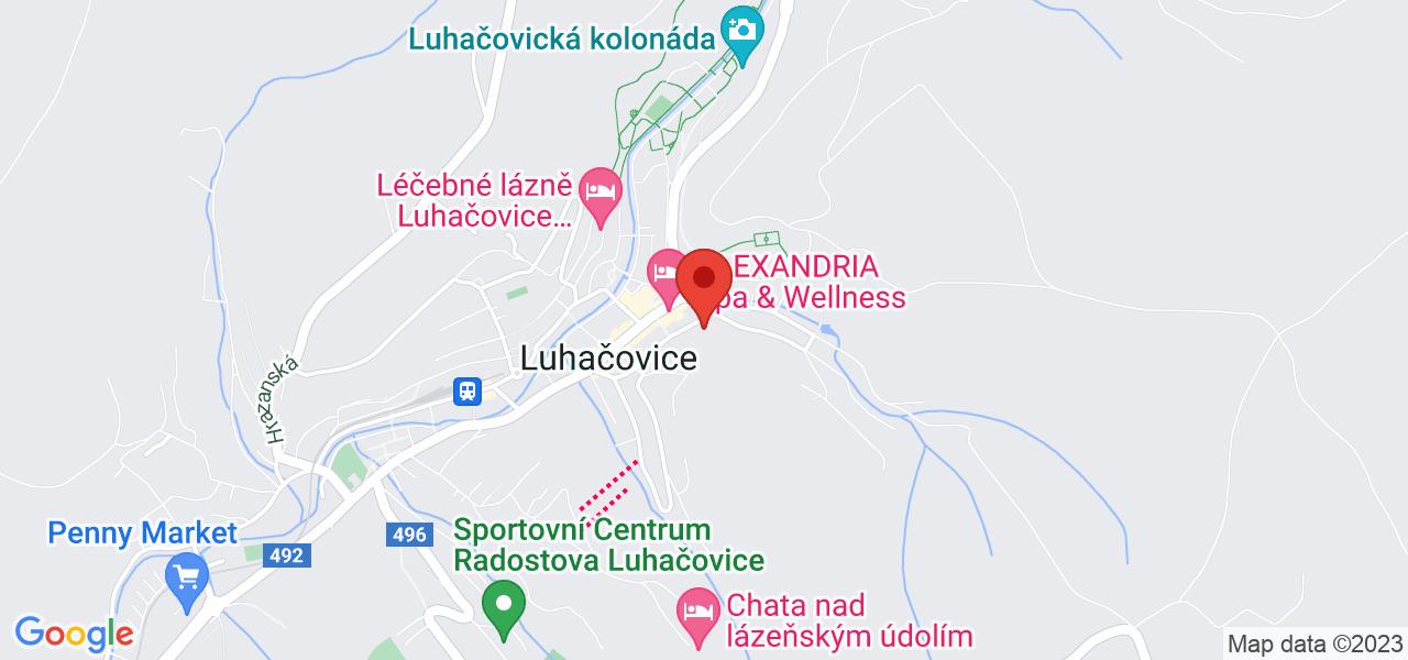 Mapa Lázeňský hotel Morava*** Luhačovice