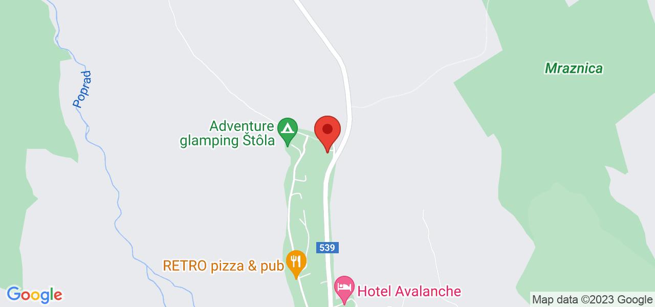 Mapa Hotel Avalanche*** Vyšné Hágy / Štôla