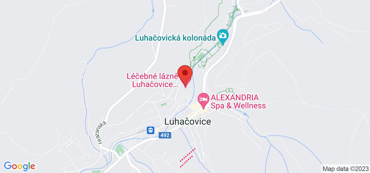 Mapa Hotel uzdrowiskowy Miramare**** Luhacovice
