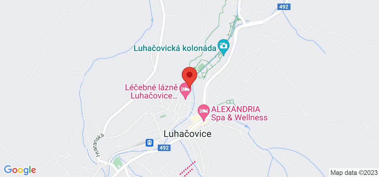 Mapa Hotel Riviera*** Luhačovice