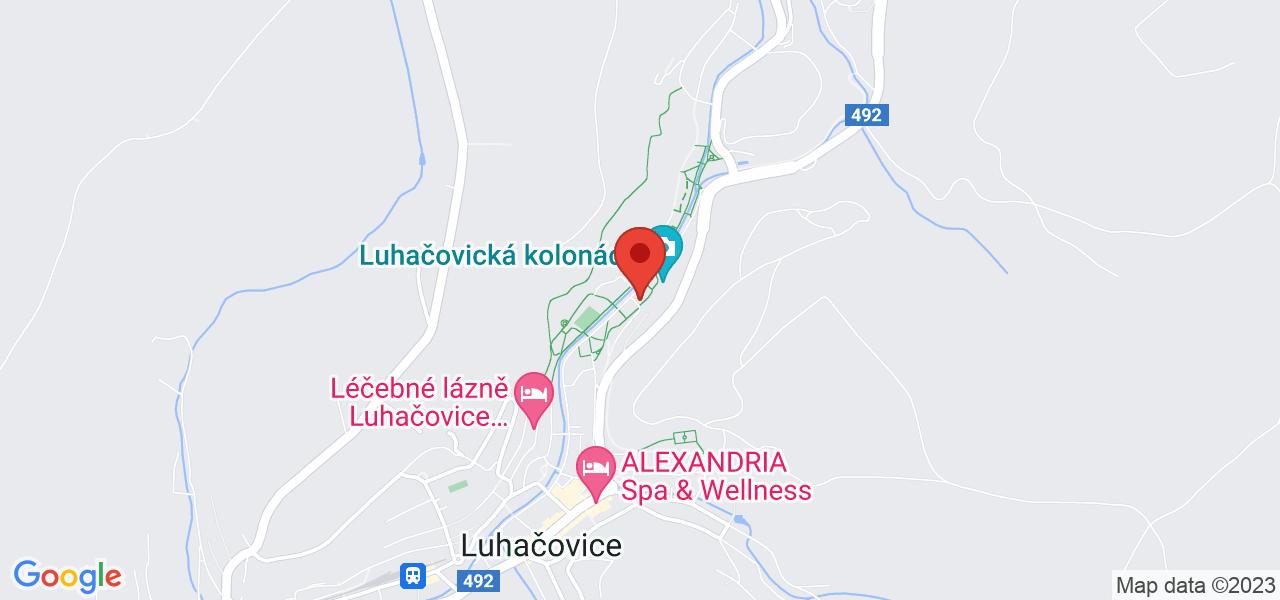 Mapa Kúpeľný Hotel Jurkovičův dům**** Luhačovice