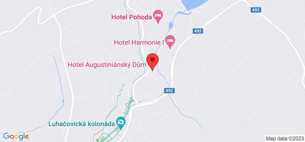 Mapa Hotel Wellness and spa Augustiniánský dům superior**** Luhačovice