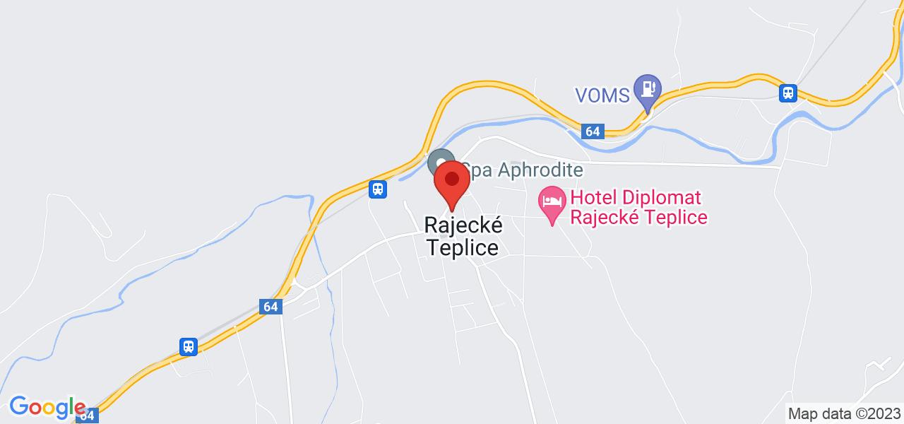 Mapa Apartmány Royal Aphrodite Palace***** Rajecké Teplice