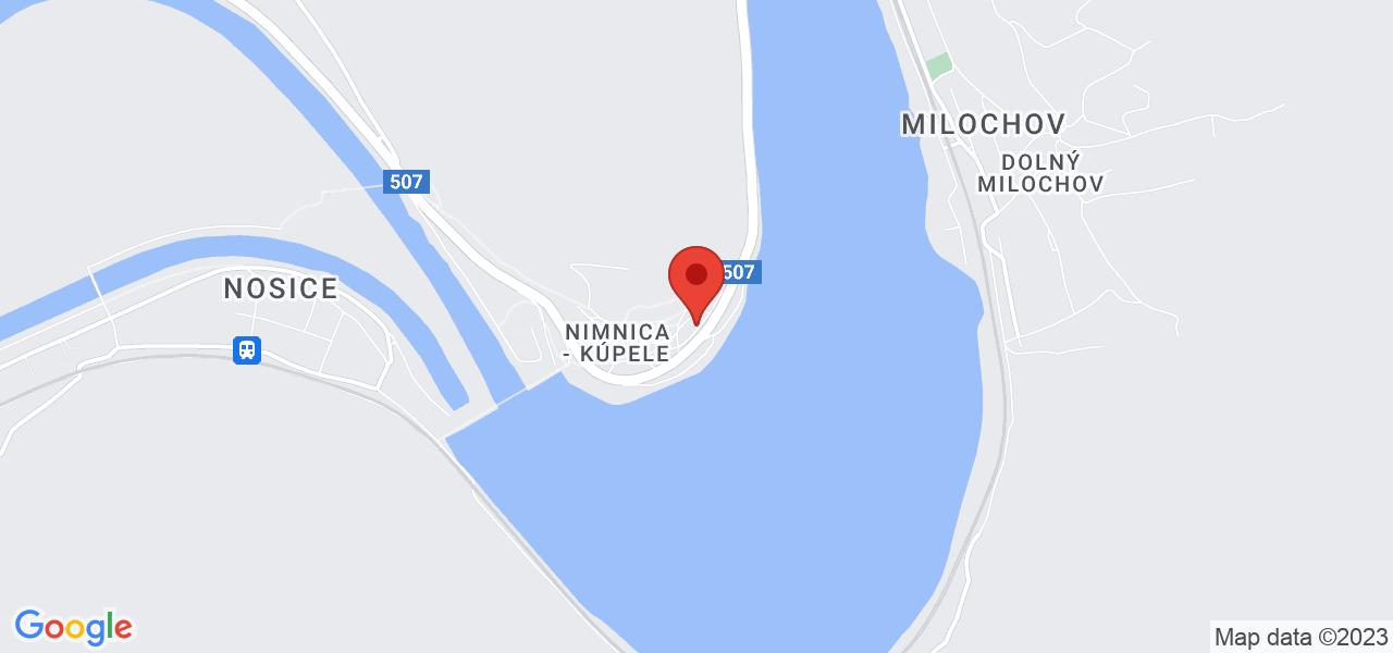 Mapa Liečebný dom Veritas Nimnica