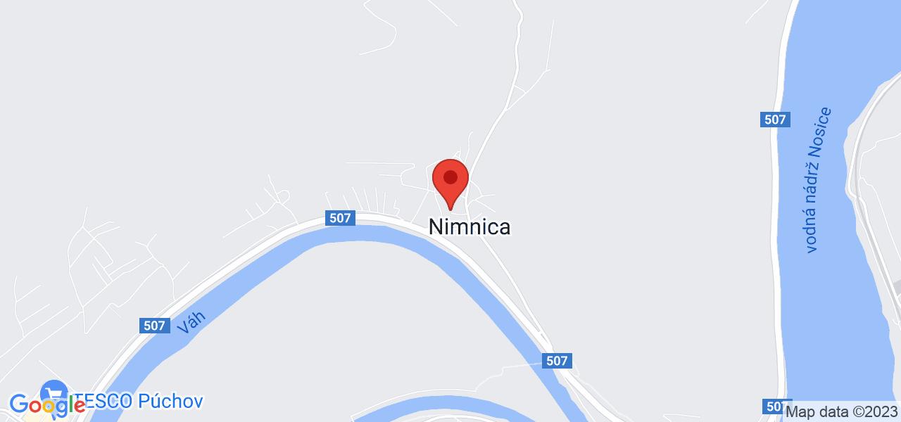 Mapa Kúpeľný Hotel Balnea Grand Nimnica