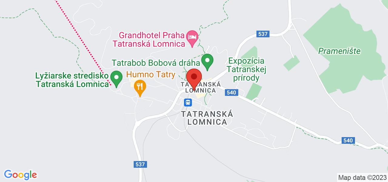 Mapa Hotel Lomnica**** Tatranská Lomnica