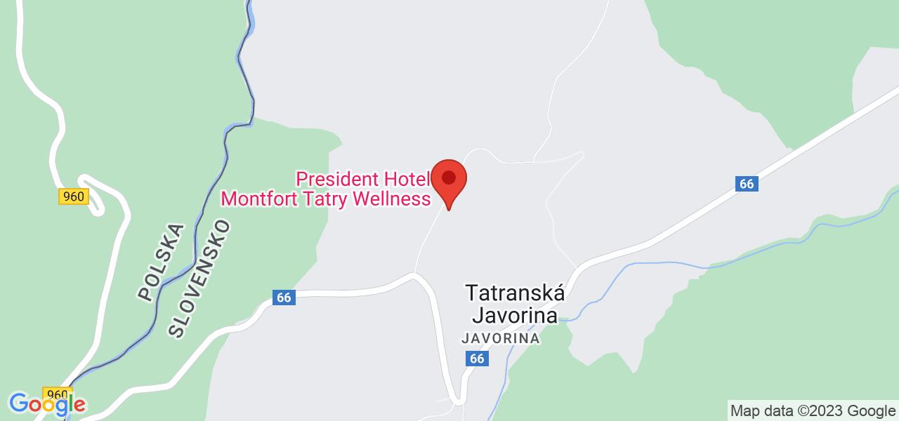 Mapa Hotel Montfort**** Tatranská Javorina